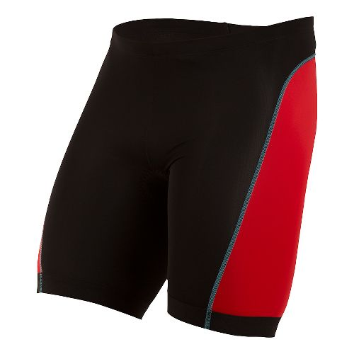 Mens Pearl Izumi SELECT Pursuit Tri Unlined Shorts - Black/True Red XS