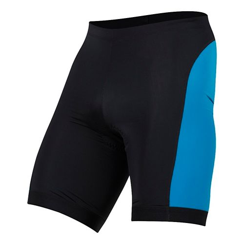 Mens Pearl Izumi SELECT Pursuit Tri Unlined Shorts - Black/Atomic Blue XXL