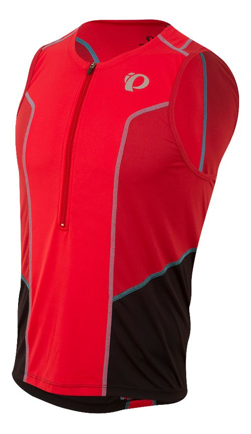 Mens Pearl Izumi SELECT Pursuit Tri SL Jersey Sleeveless & Tank Tops Technical Tops - Red/Chili ...