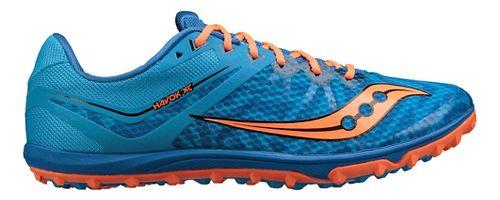 Mens Saucony Havok XC Flat Cross Country Shoe - Blue/Orange 10.5