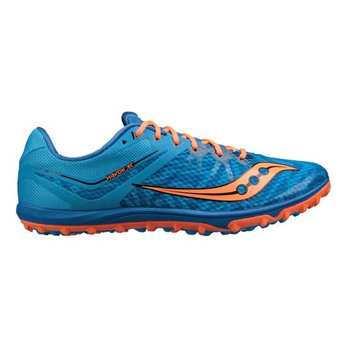 Mens Saucony Havok XC Flat Cross Country Shoe - Blue/Orange 9.5