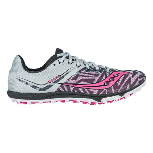 Womens Saucony Havok XC Flat Cross Country Shoe - Silver/Pink 10