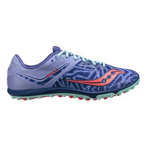Womens Saucony Havok XC Flat Cross Country Shoe - Purple/Blue 8.5