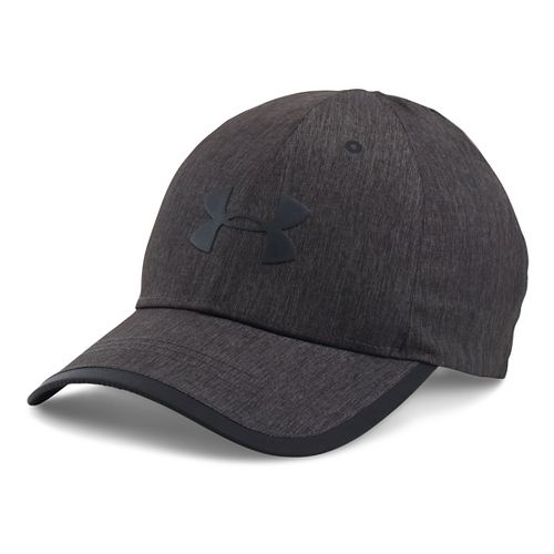 Mens Under Armour Storm Run Cap Headwear - Black/Black