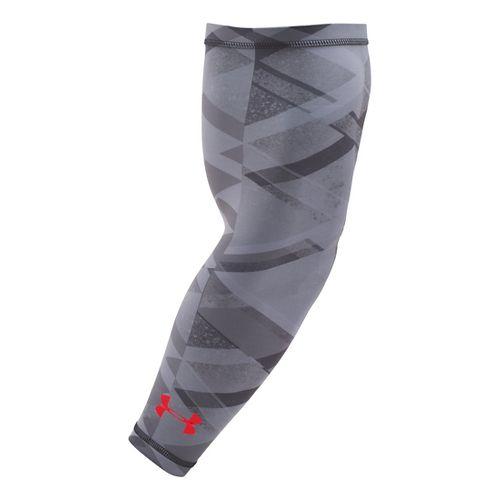 Mens Under Armour Graphic HeatGear Arm Sleeve Handwear - Black/Stealth Grey L/XL