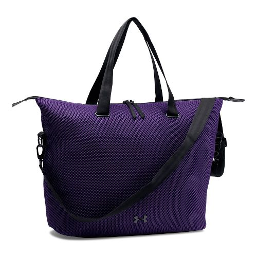 Womens Under Armour On The Run Tote Bags - Purple/Black