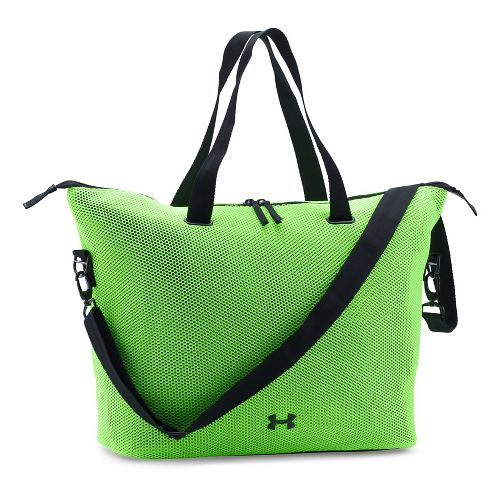 Womens Under Armour On The Run Tote Bags - Quirky Lime/Black