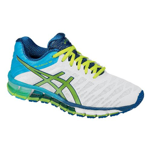Womens ASICS GEL-Quantum 180 Running Shoe - White/Lime 7.5
