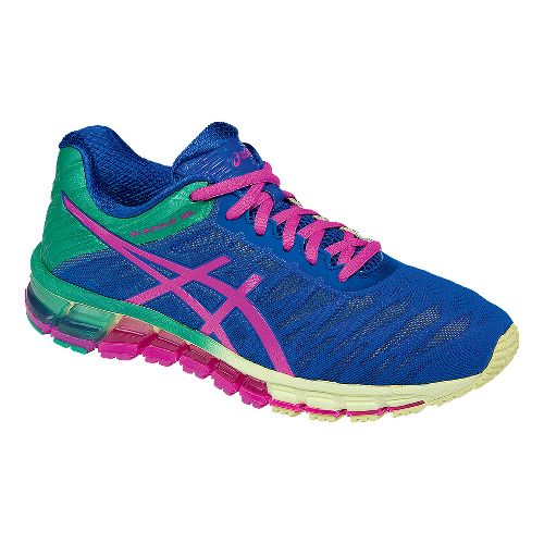 Womens ASICS GEL-Quantum 180 Running Shoe - Blue/Pink 10.5