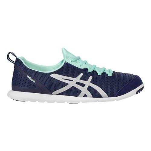 Womens ASICS Metrolyte Walking Shoe - Blue/Silver 7.5