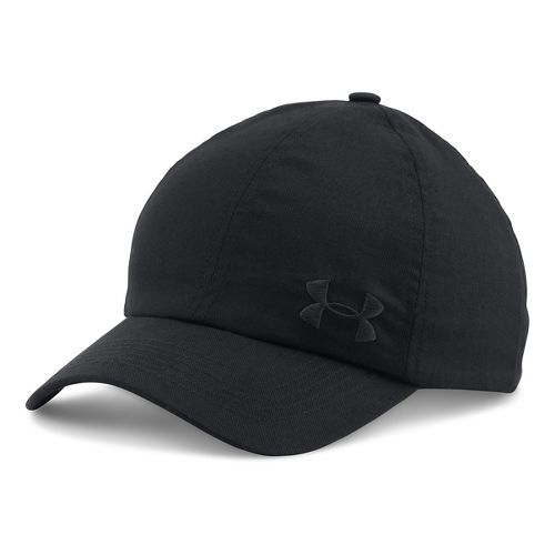 Womens Under Armour Solid Cap Headwear - Black/Black