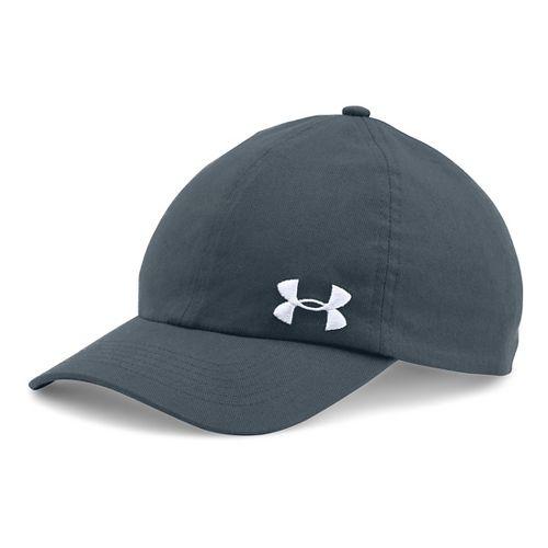 Womens Under Armour Solid Cap Headwear - Stealth Grey