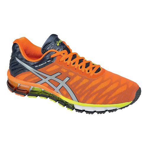 Mens ASICS GEL-Quantum 180 Running Shoe - Orange/Silver 7