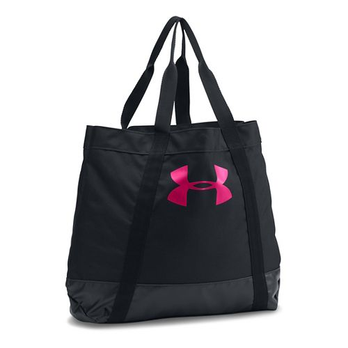 Womens Under Armour PIP Armour Tote Bags - Black/Tropic Pink