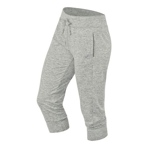 Womens ASICS ASX Lux Capris Pants - Light Grey XL