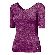 Womens ASICS ASX Lux Scoop Back Tee Short Sleeve Technical Tops