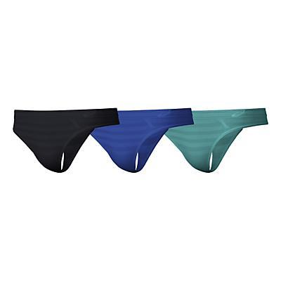 Womens ASICS ASX 3-Pack Thong Underwear Bottoms