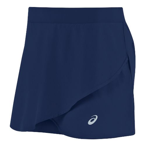 Womens ASICS Athlete Styled Skorts Fitness Skirts - Indigo Blue S