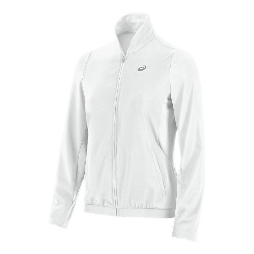 Womens ASICS Club Jacket Hoodie & Sweatshirts Technical Tops - White M