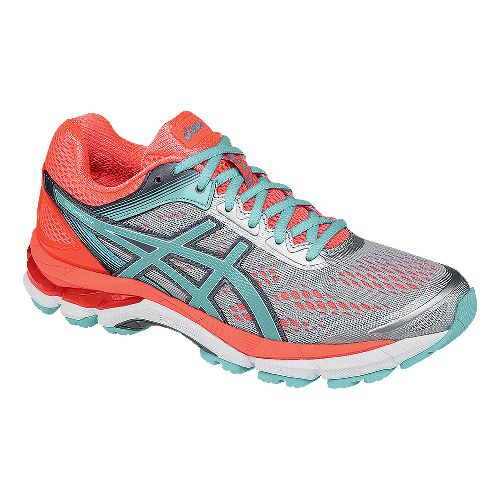 Womens ASICS GEL-Pursue 2 Running Shoe - Silver/Coral 11