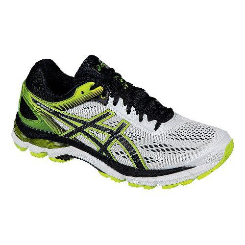 Mens ASICS GEL-Pursue 2 Running Shoe - White/Black/Lime 11.5