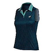 Womens ASICS Club Polo Sleeveless & Tank Tops Technical Tops