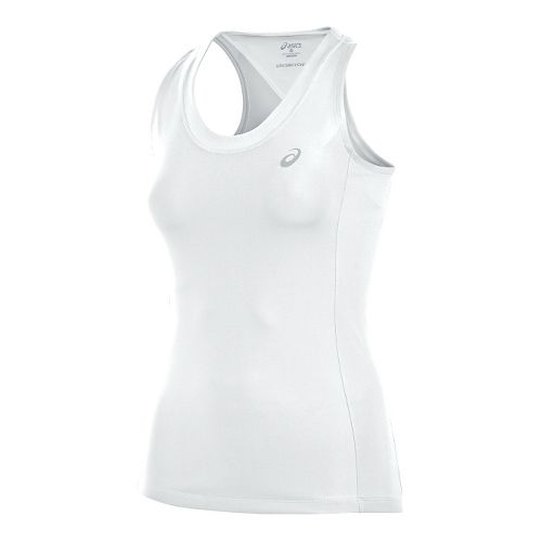 Womens ASICS Club Sleeveless & Tank Technical Tops - White S