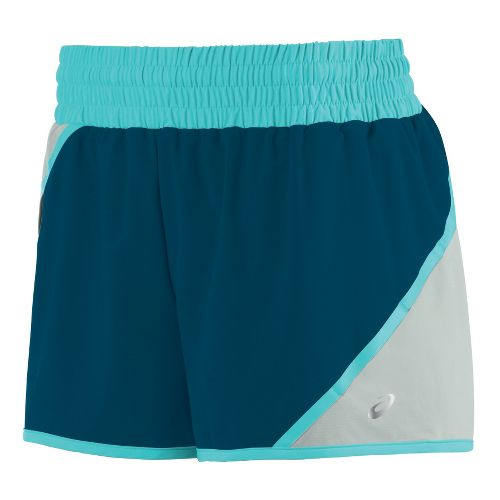 Womens ASICS Distance Unlined Shorts - Teal S