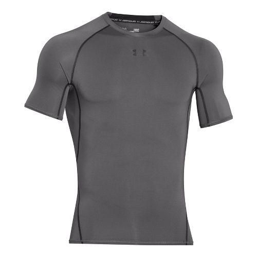 Mens Under Armour Heatgear Armour Short Sleeve Technical Tops - Graphite/Black XL