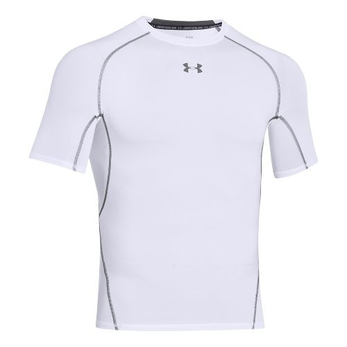 Mens Under Armour HeatGear Compression T Short Sleeve Technical Tops - White LR