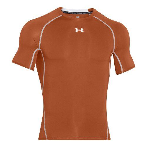 Mens Under Armour HeatGear Short Sleeve Technical Tops - Tropic Pink/Black 3XL