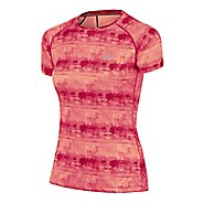 Womens ASICS FujiTrail Graphic Short Sleeve Technical Tops