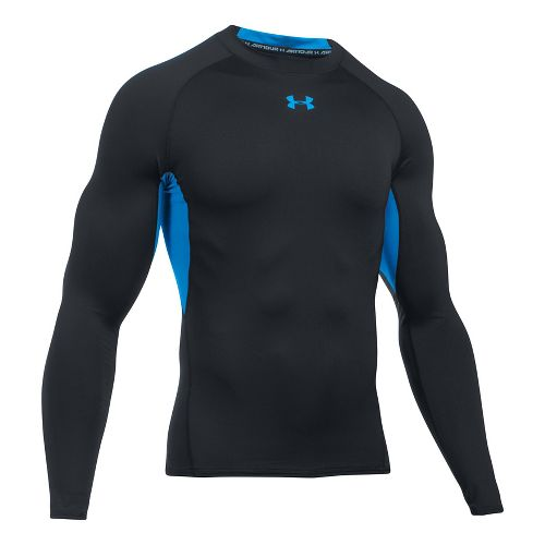 Mens Under Armour Heatgear Armour Long Sleeve Technical Tops - Blue/Water 3XL-T