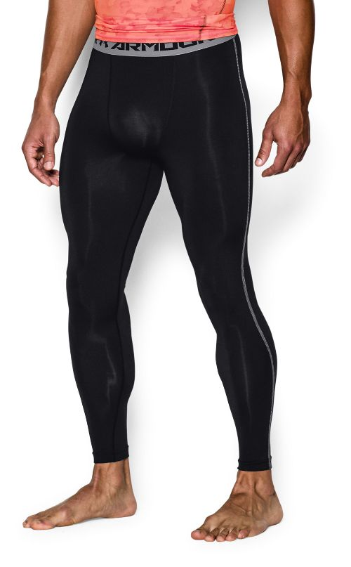 Mens Under Armour HeatGear Compression Tights & Leggings Pants - Black XXL