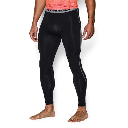 Mens Under Armour HeatGear Compression Tights & Leggings Pants - Black XXL