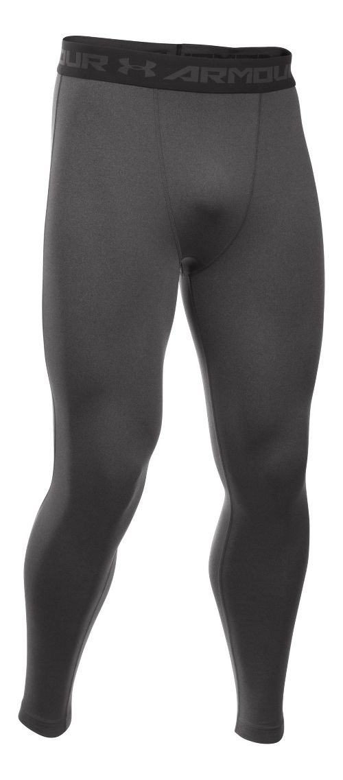Mens Under Armour HeatGear Compression Tights & Leggings Pants - Carbon Heather L