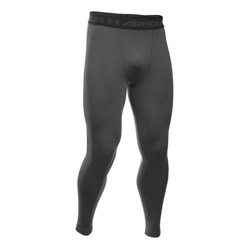 Mens Under Armour HeatGear Compression Tights & Leggings Pants - Carbon Heather 3XL