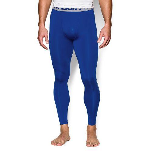 Mens Under Armour HeatGear Compression Tights & Leggings Pants - Royal MR
