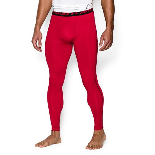 Mens Under Armour HeatGear Compression Tights & Leggings Pants - Red 3XL
