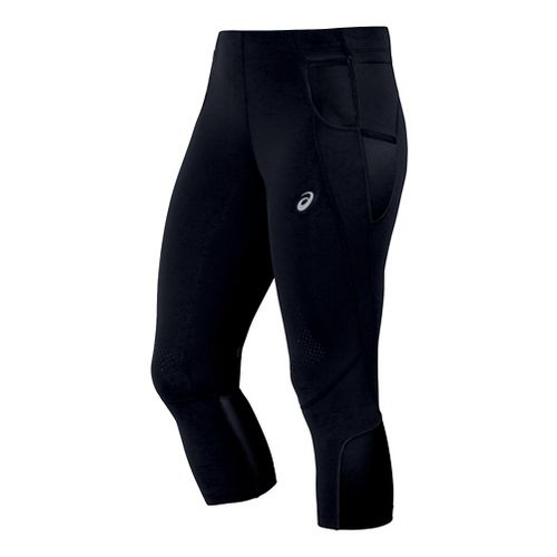 Womens ASICS FujiTrail Knee Tights & Leggings Pants - Black XL