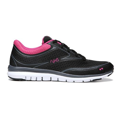 Womens Ryka Charisma Walking Shoe - Black/Pink 9.5