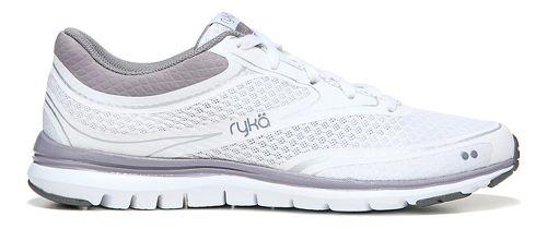 Womens Ryka Charisma Walking Shoe - White/Purple Ash 6.5