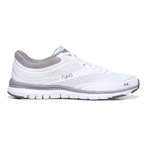 Womens Ryka Charisma Walking Shoe - White/Purple Ash 9.5