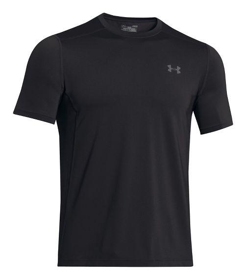 Mens Under Armour Raid Short Sleeve Technical Tops - Black/Graphite 3XL