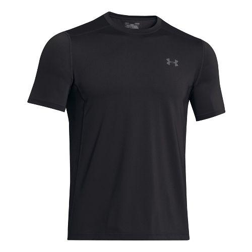 Mens Under Armour Raid Short Sleeve Technical Tops - Black/Graphite L