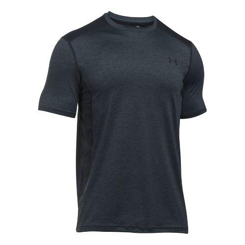 Mens Under Armour Raid Short Sleeve Technical Tops - Stealth Grey/Black S