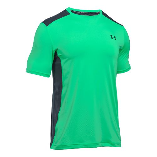 Mens Under Armour Raid Short Sleeve Technical Tops - Vapor Green L