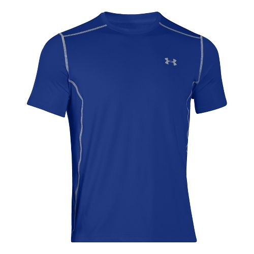 Mens Under Armour Raid Short Sleeve Technical Tops - Royal 3XL