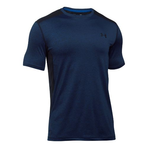 Mens Under Armour Raid T Short Sleeve Technical Tops - Royal/Black SR