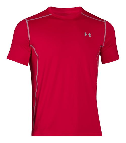 Mens Under Armour Raid Short Sleeve Technical Tops - Red S